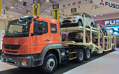FUSO FZ 4928 heavy-duty tractor, displayed in GIIAS 2015