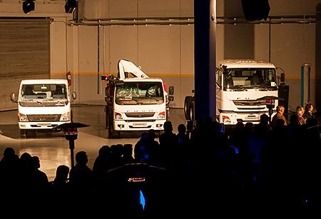 light-duty model Canter, medium heavy-duty model FA and heavy-duty model FJ