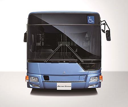 新型大型路線バス「エアロスター」フロントデザイン